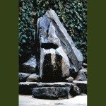 St. Gregory's Baptismal Font patio water features stone water art sculpture design
