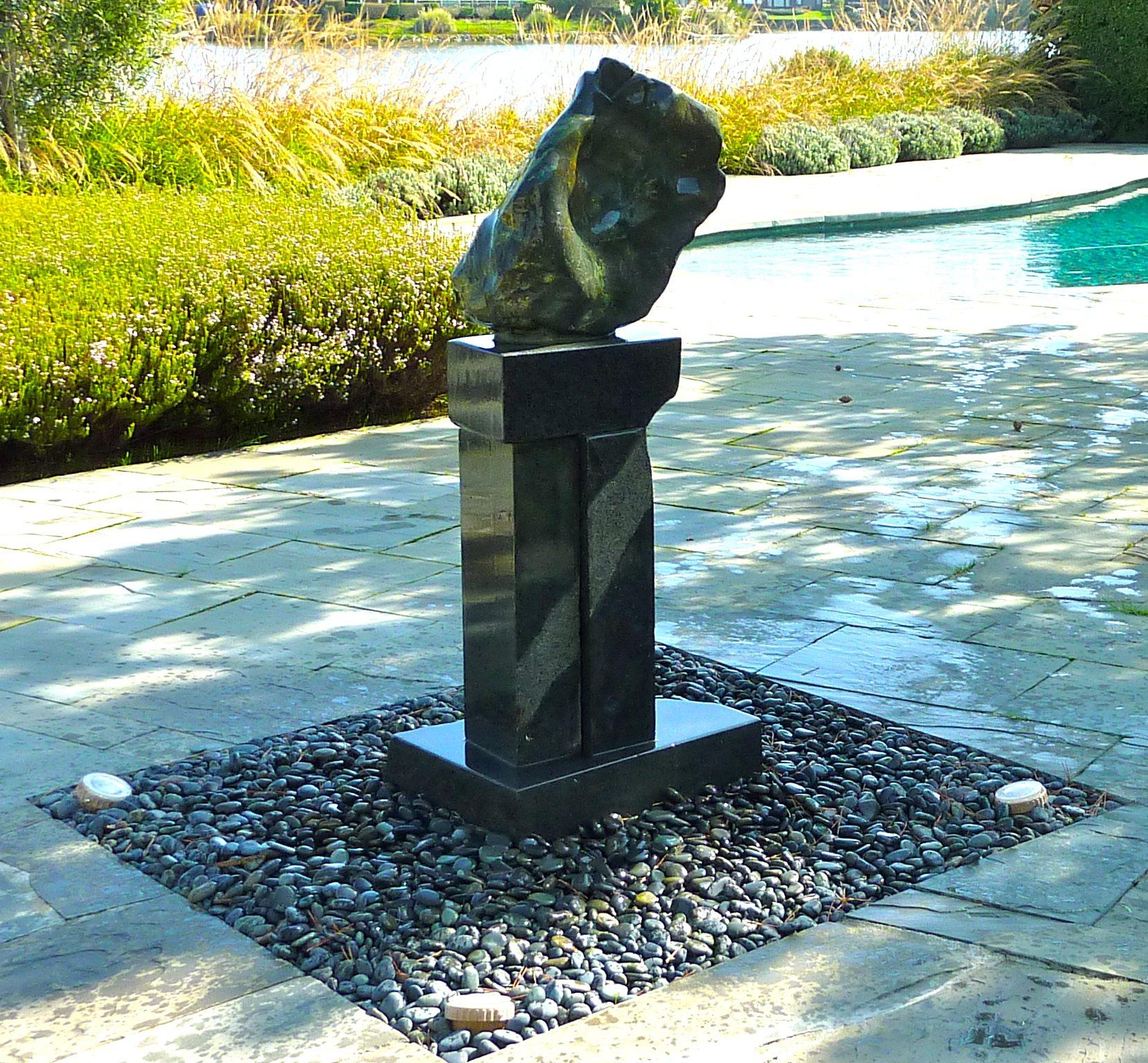 The Muse yard sculptures stone artist abstract sculpture garden art