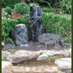 The Three of Us patio water features stone water art water feature fountain designers